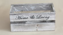 Holzkiste home & living, grau